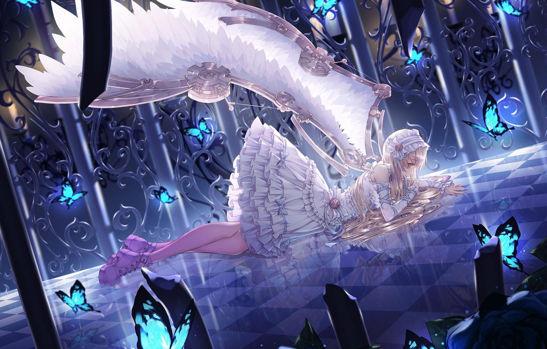 Ảnh anime thiên thần buồn đẹp nhất