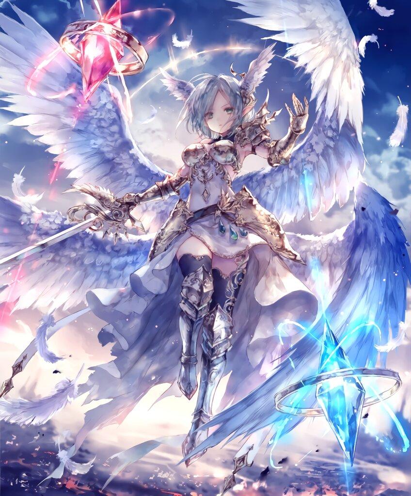Ảnh anime thiên thần đẹp, chất nhất