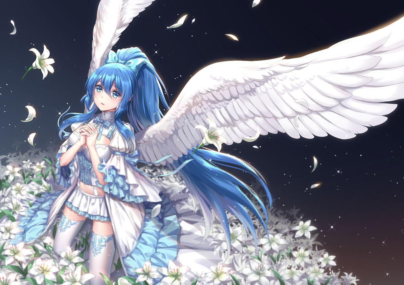 Ảnh anime thiên thần đẹp và đáng yêu nhât