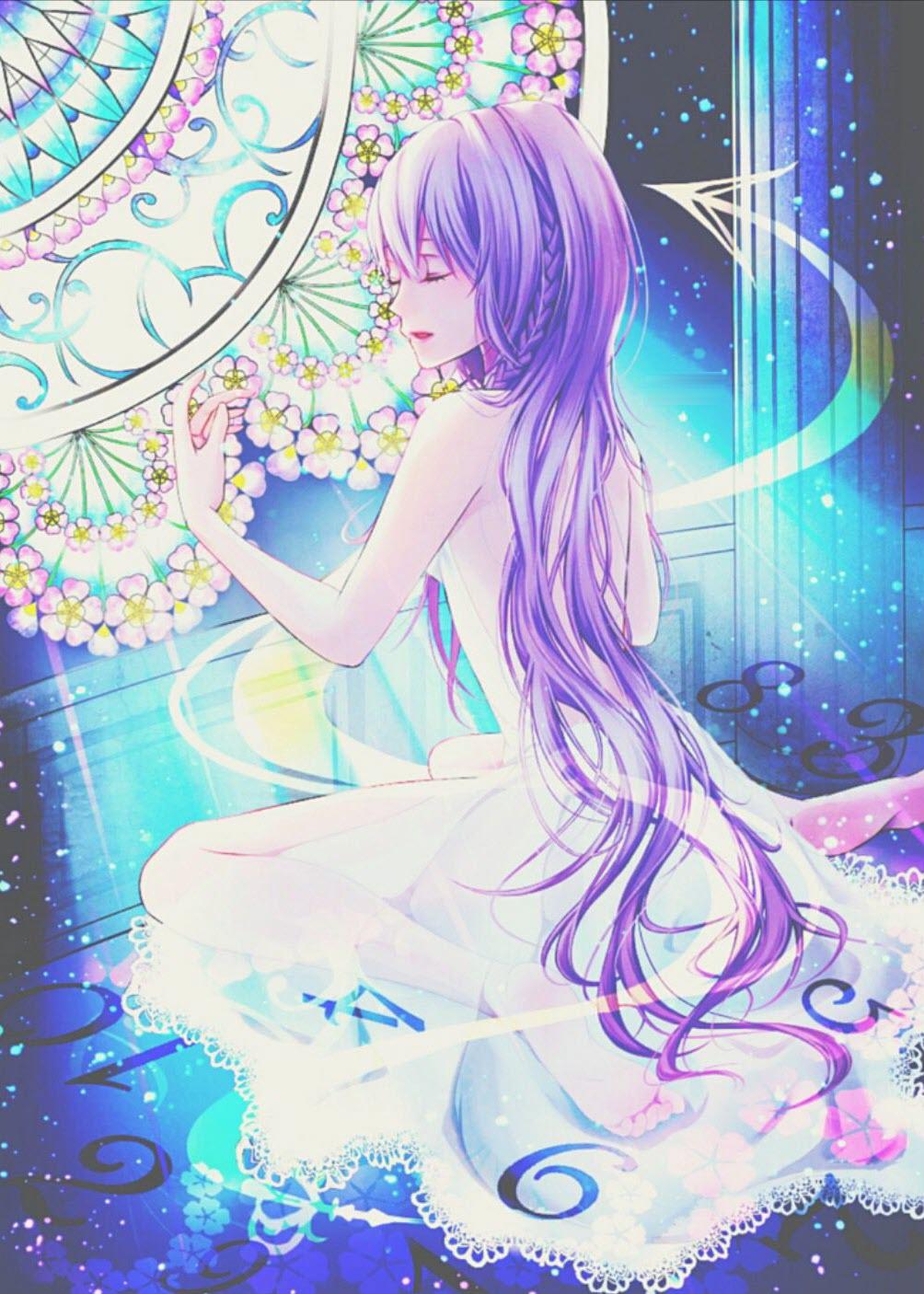 Ảnh anime tóc tím đẹp, quyến rũ