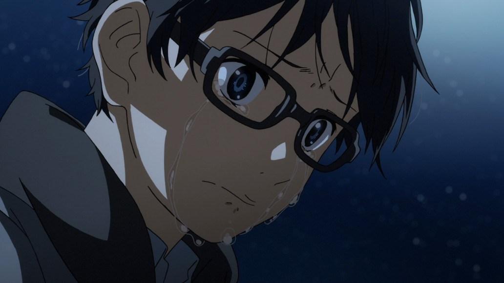 Ảnh Boy anime buồn và khóc
