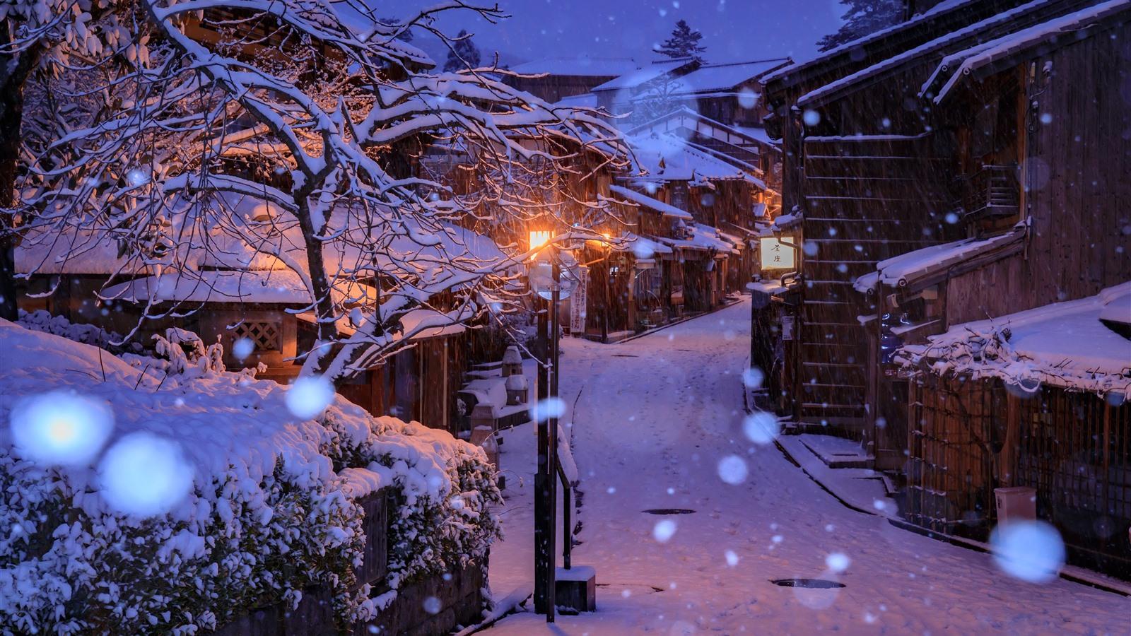 Ảnh buổi tối mùa đông anime