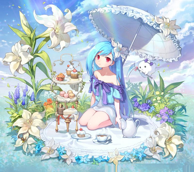 Ảnh cô gái tóc xanh dương Anime