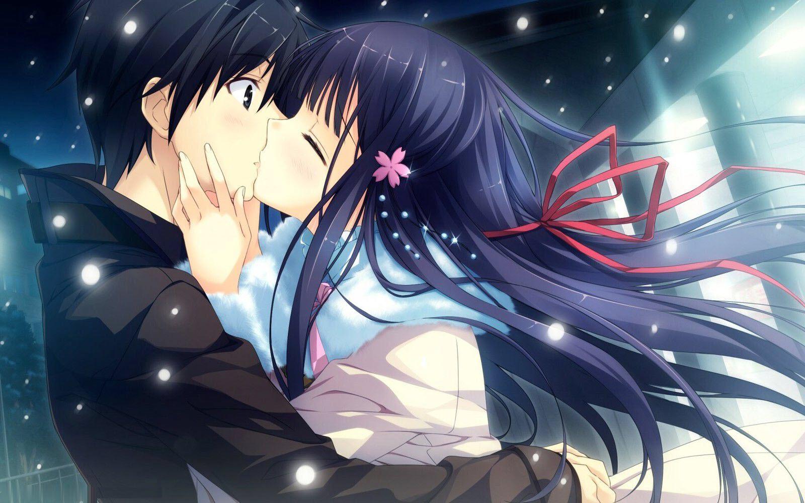 Ảnh couple anime mùa đông