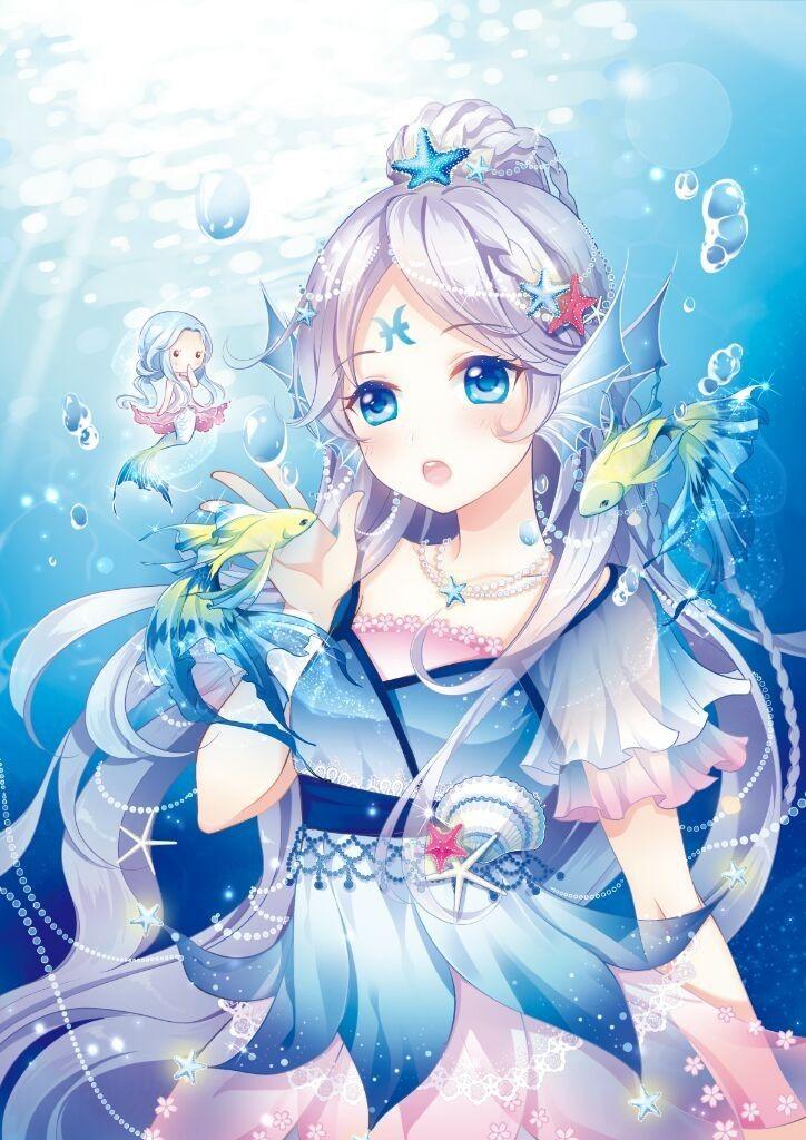 Ảnh cung Song Ngư  anime đẹp