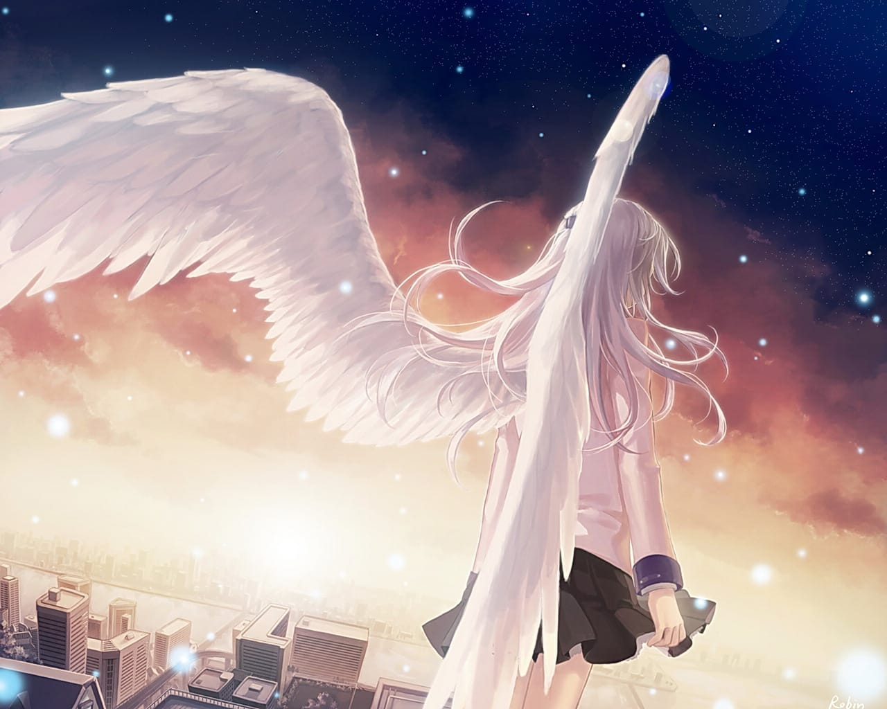 Ảnh đôi cánh thiên thần anime