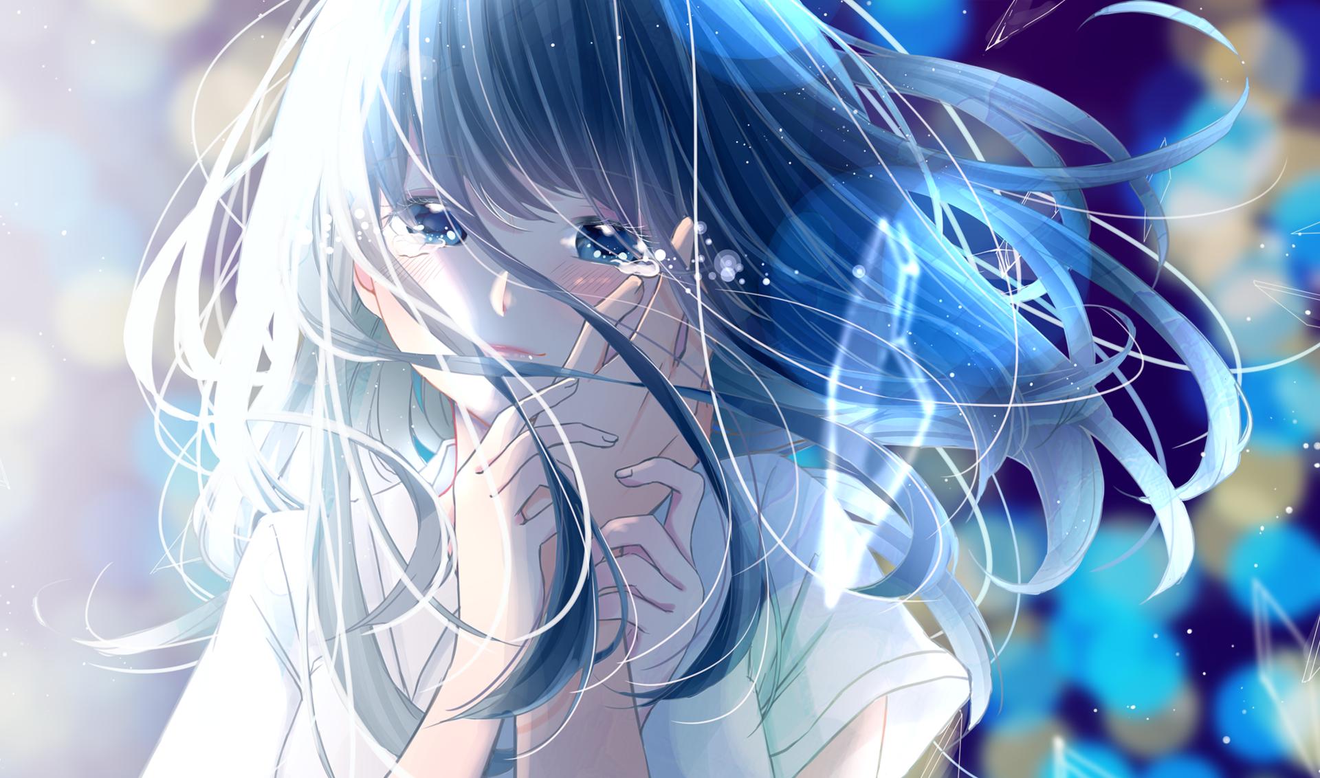 Ảnh girl Anime khóc buồn