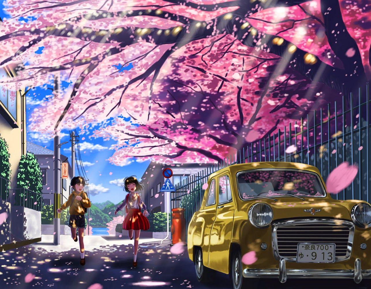 Ảnh hoa đào anime đẹp