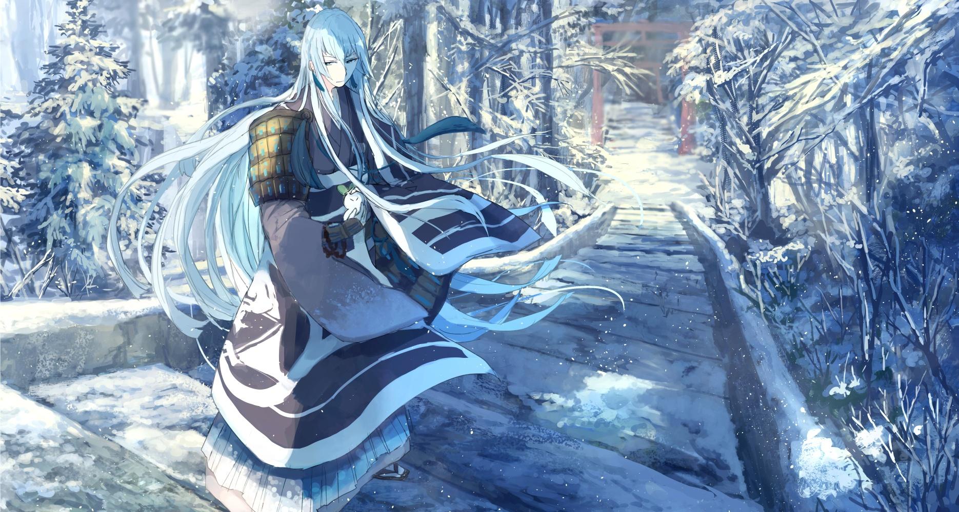 Ảnh mùa đông trong anime cổ trang