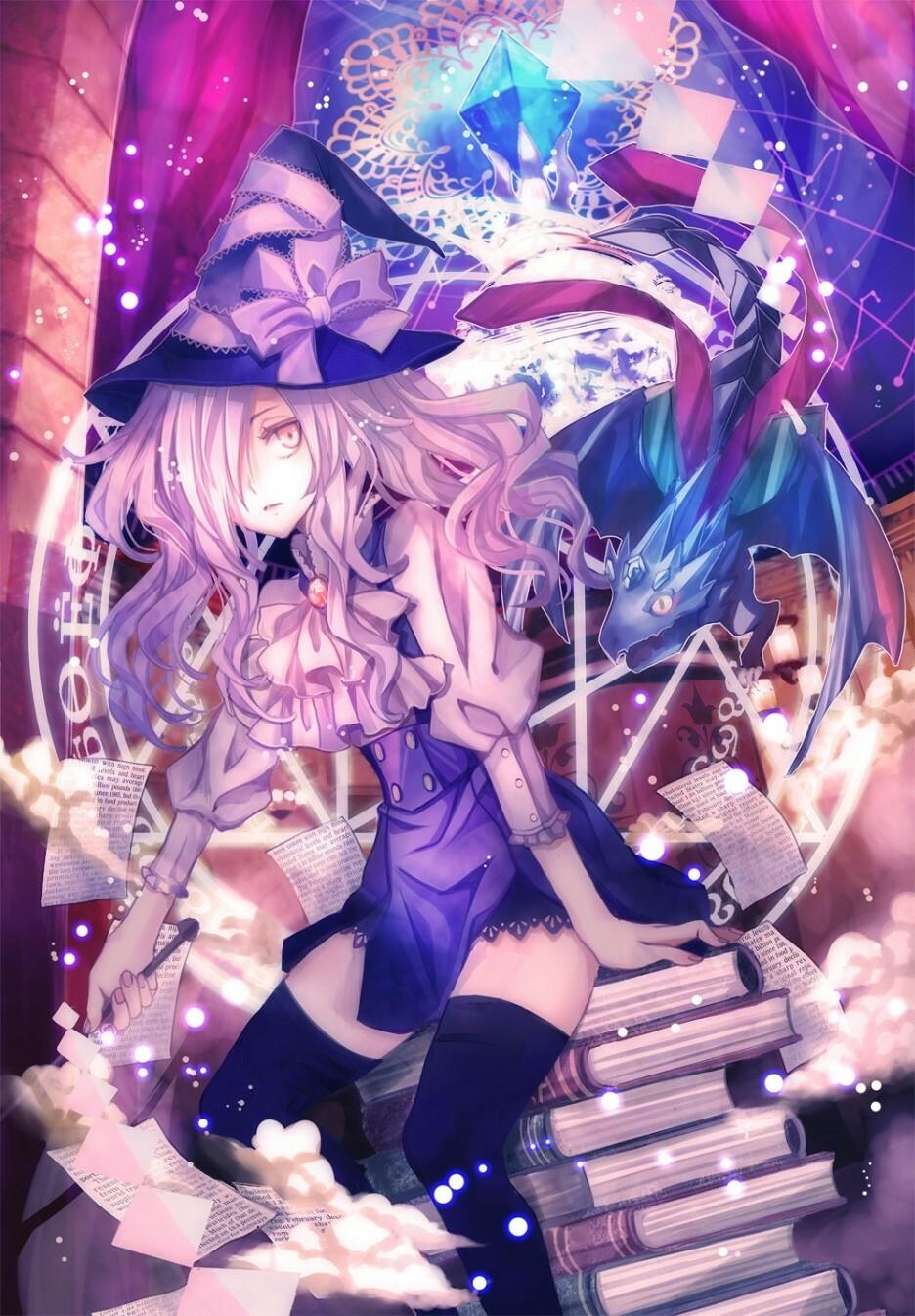 Ảnh phù thủy anime tóc tím ma mị