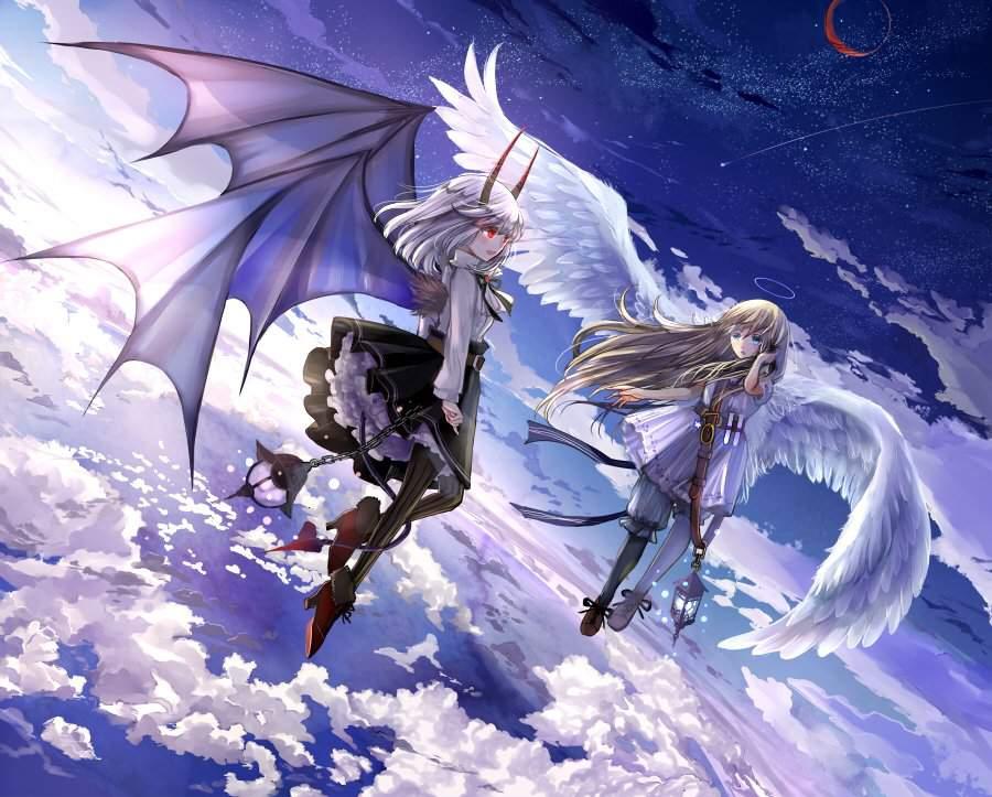 Ảnh thiên thần và ác quỷ anime