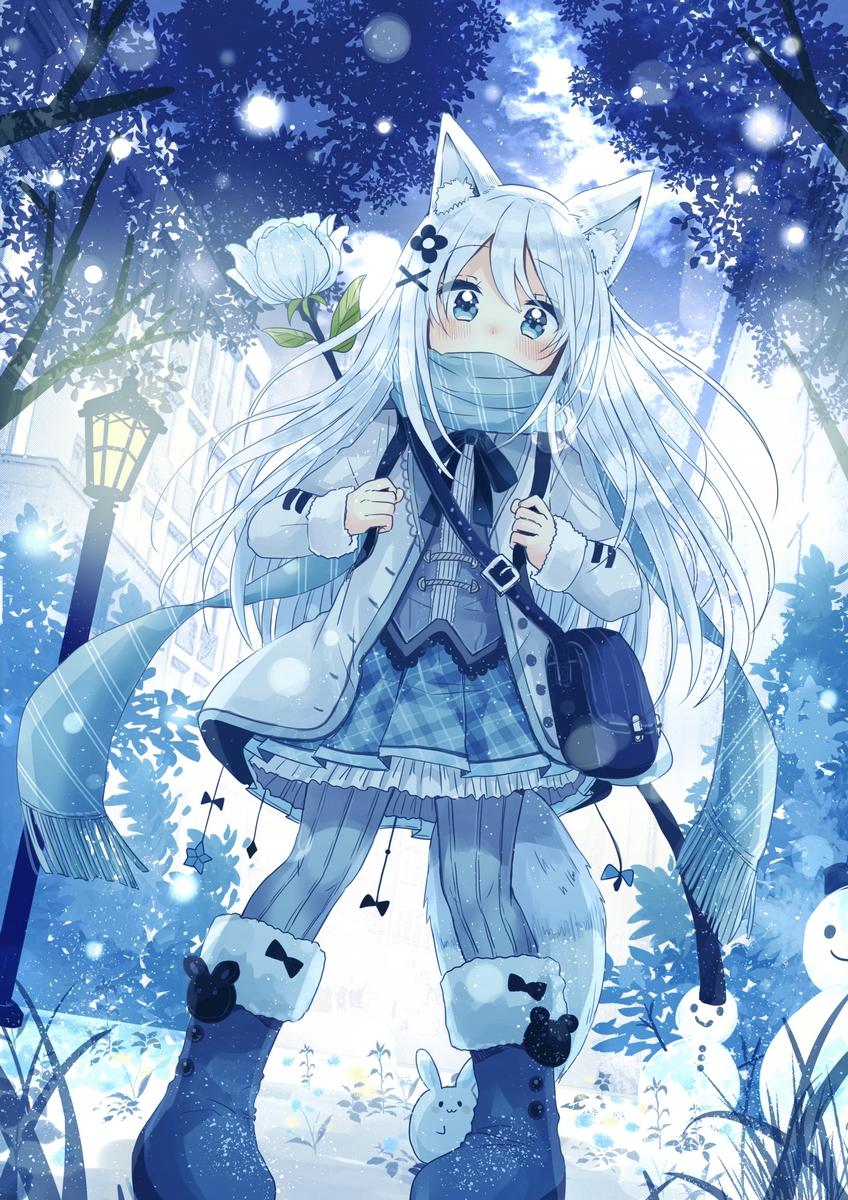 Ảnh trang phục mùa đông anime