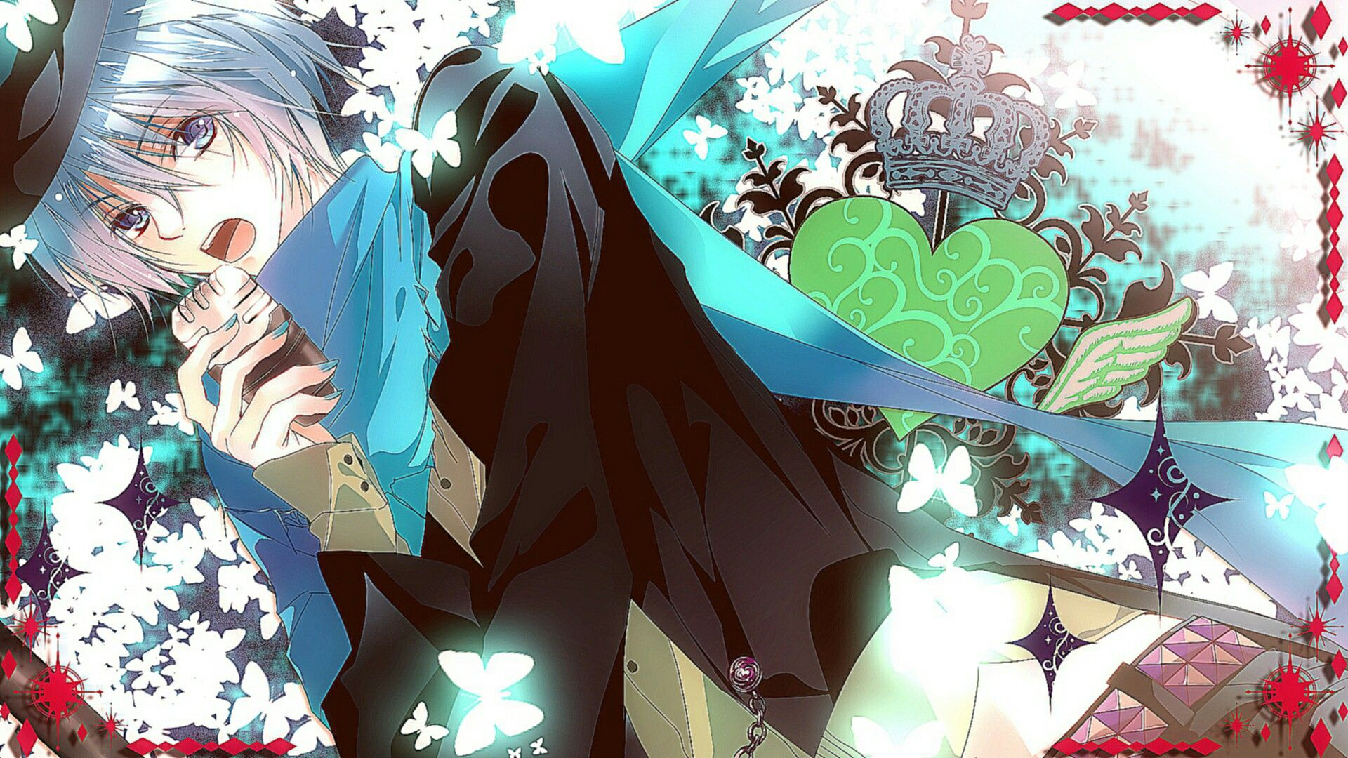 Anime boy tóc xanh đẹp