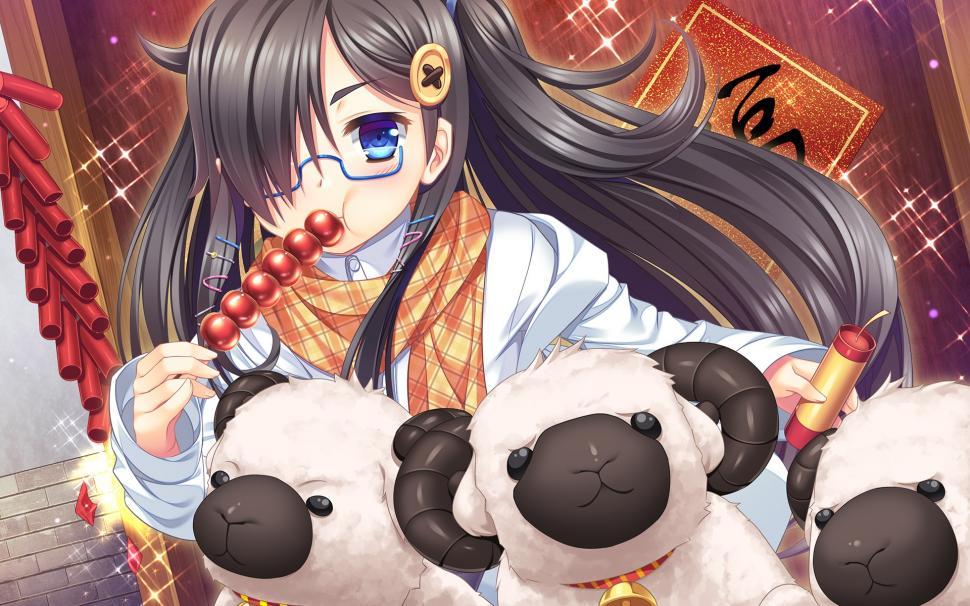 Anime girl đeo kính đẹp nhất