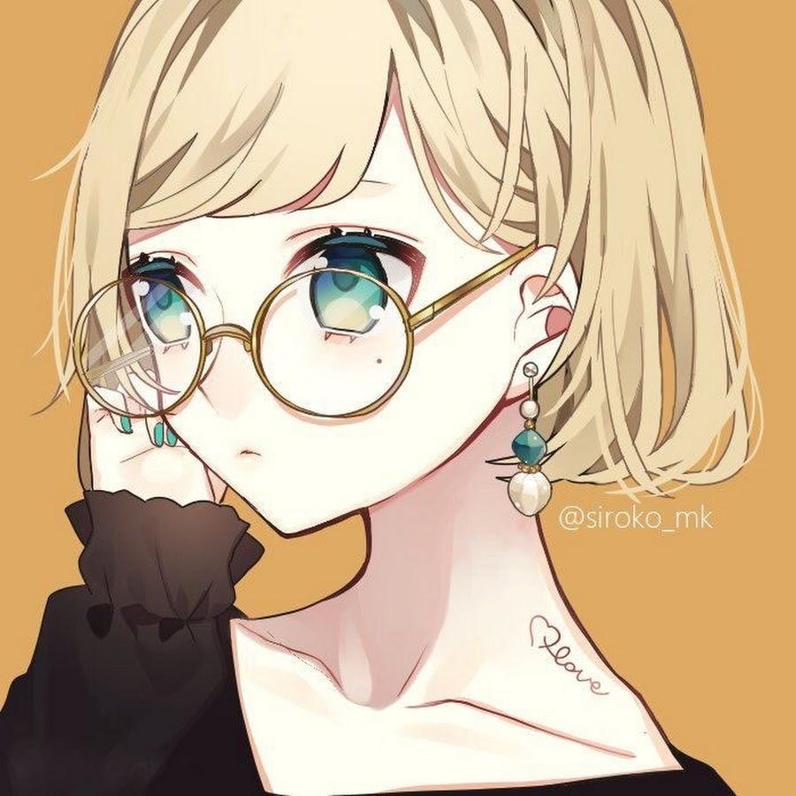Anime girl đeo kính lạnh lùng, cá tính