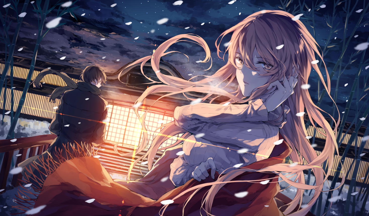 Anime girl in winter Images