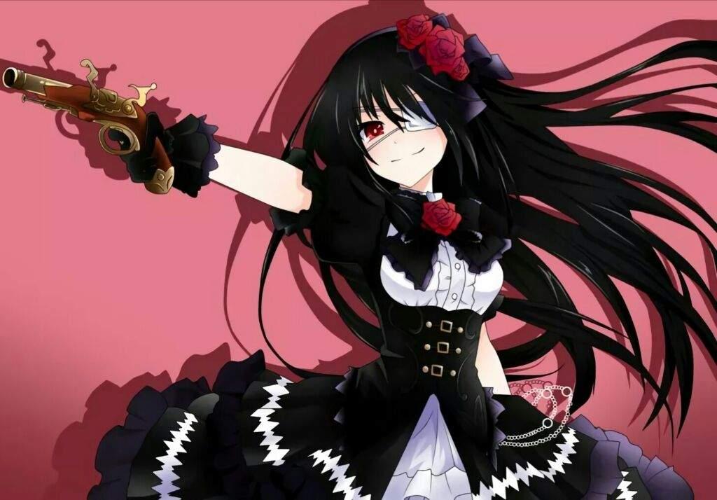 Anime girl tóc đen lạnh lùng
