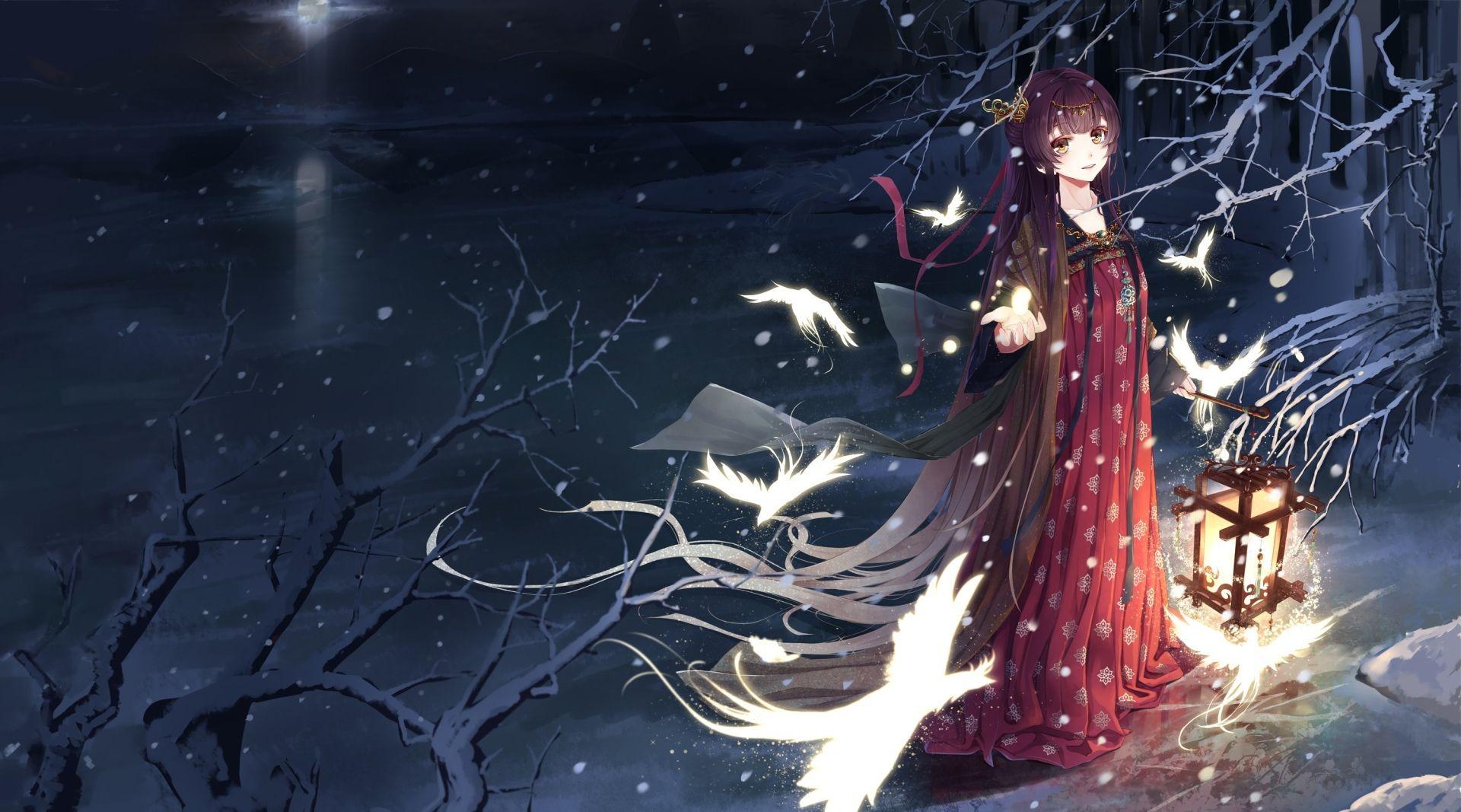 Anime winter wallpaper hd