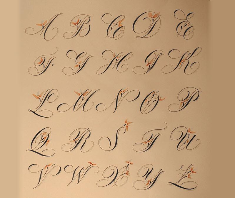 Bảng chữ in hoa nghệ thuật đẹp