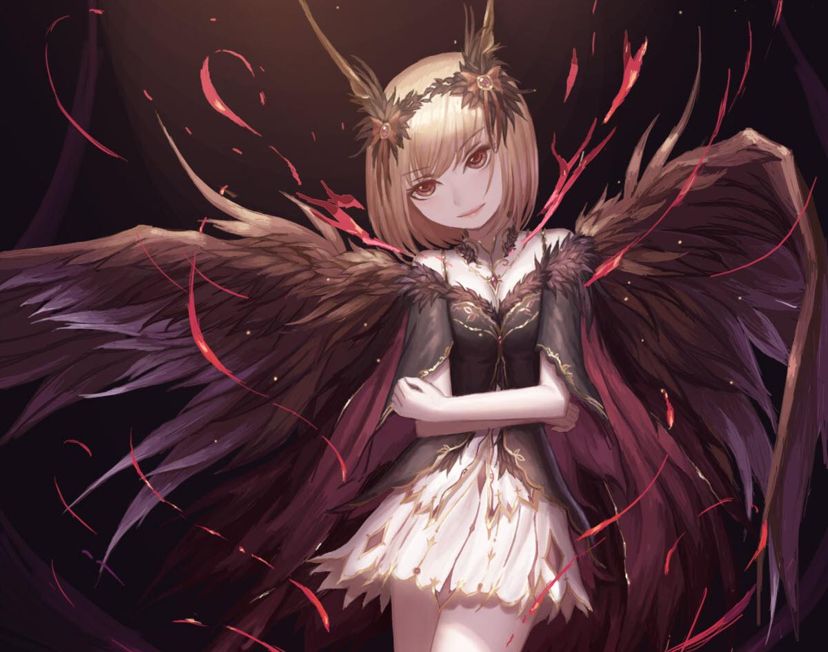Dark anime girl devil