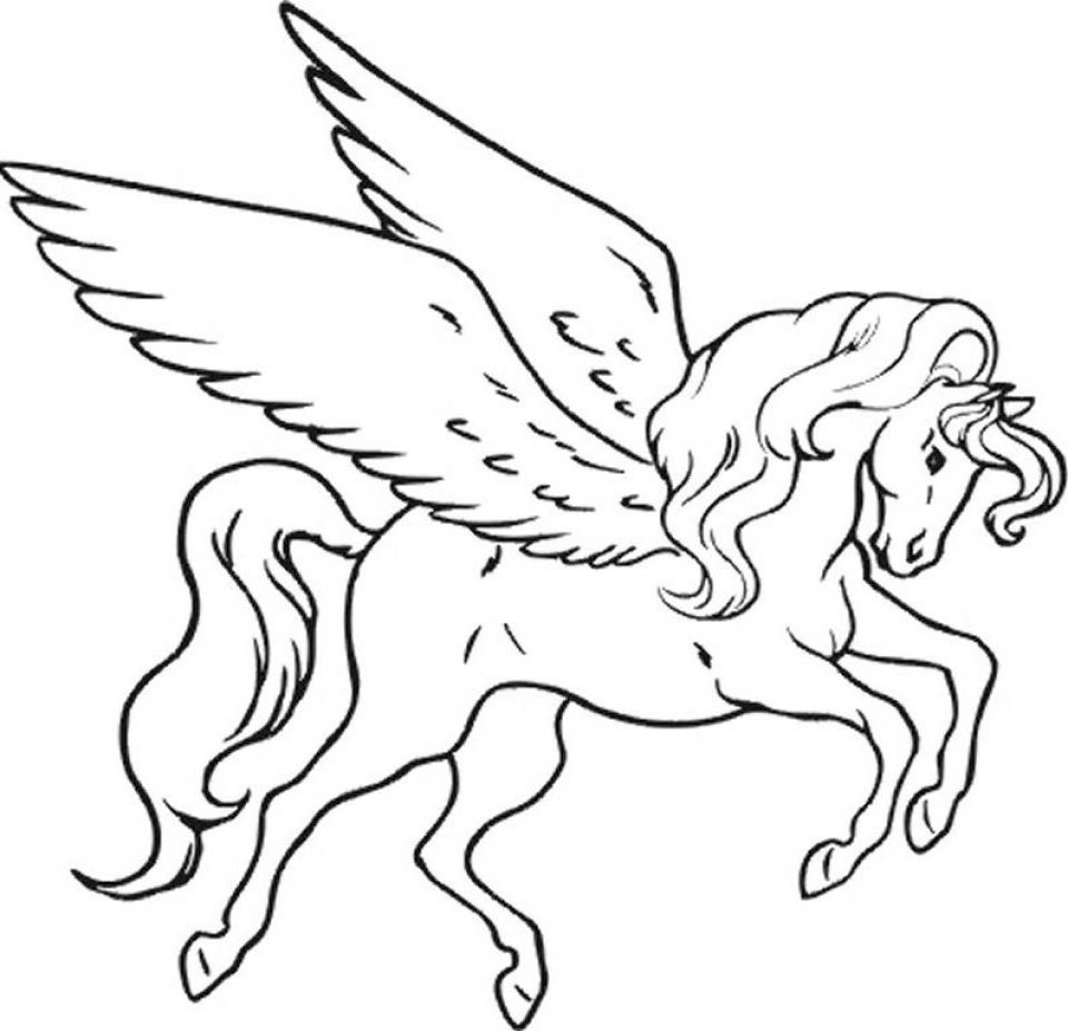 Fairy Horse Coloring Pages