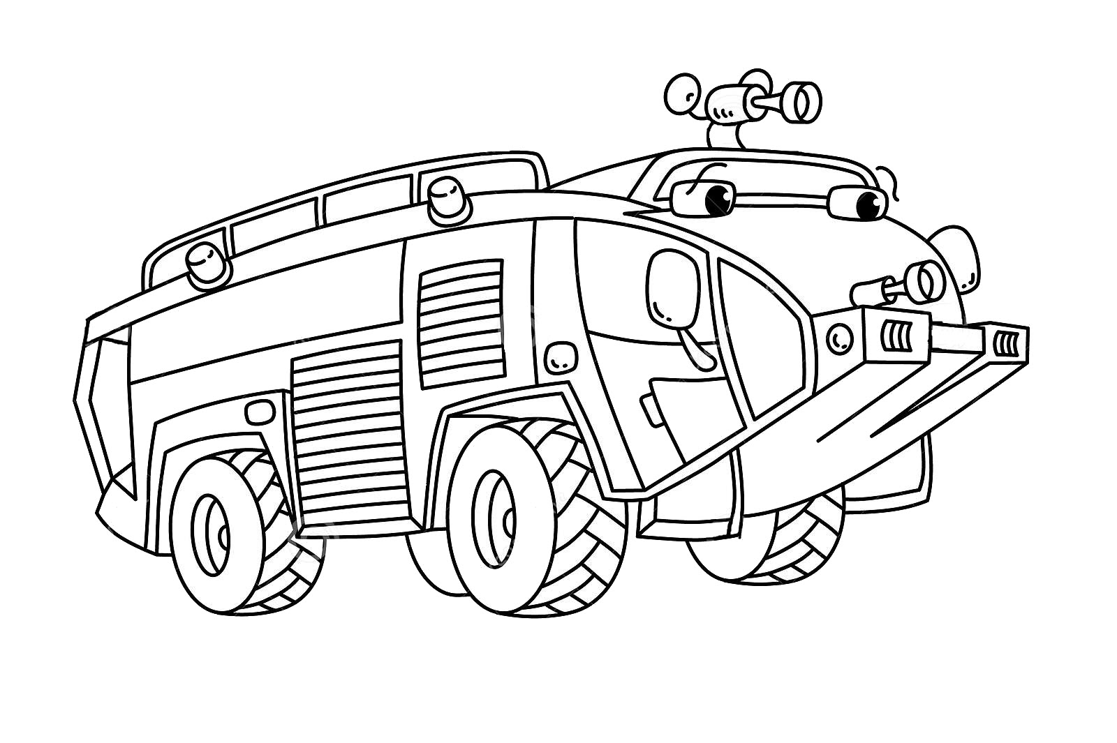 Fire Truck Funny Coloring