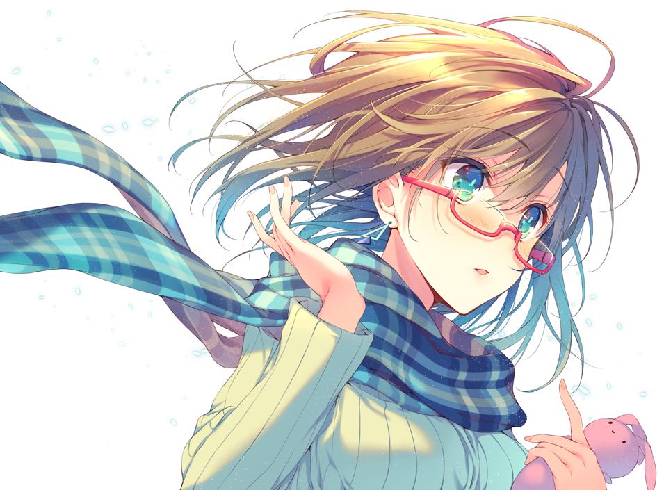 Hình ảnh girl anime đeo kính đẹp
