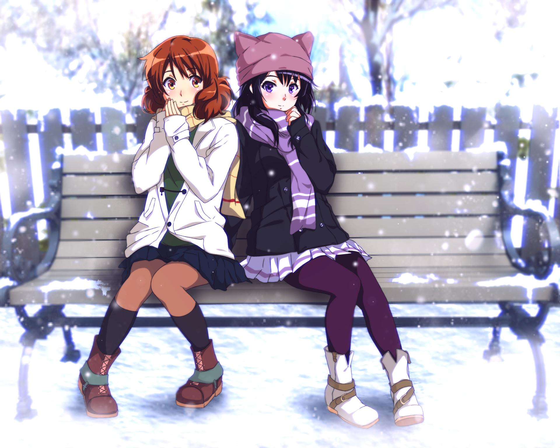 Hình ảnh mùa đông anime đẹp nhất