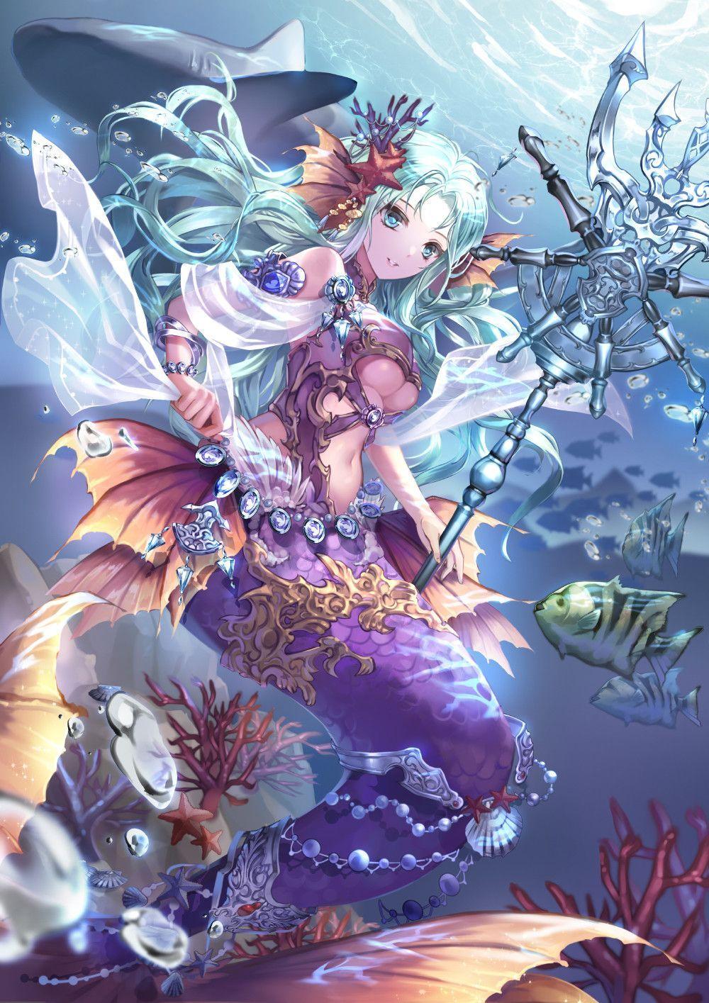 Hình anime cung hoàng đạo cung Song NGư