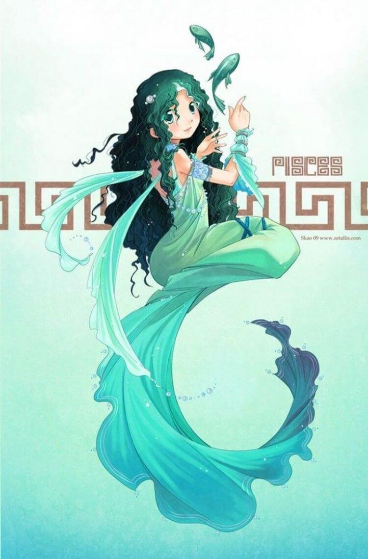 Hình anime cung Song Ngư đẹp nhất
