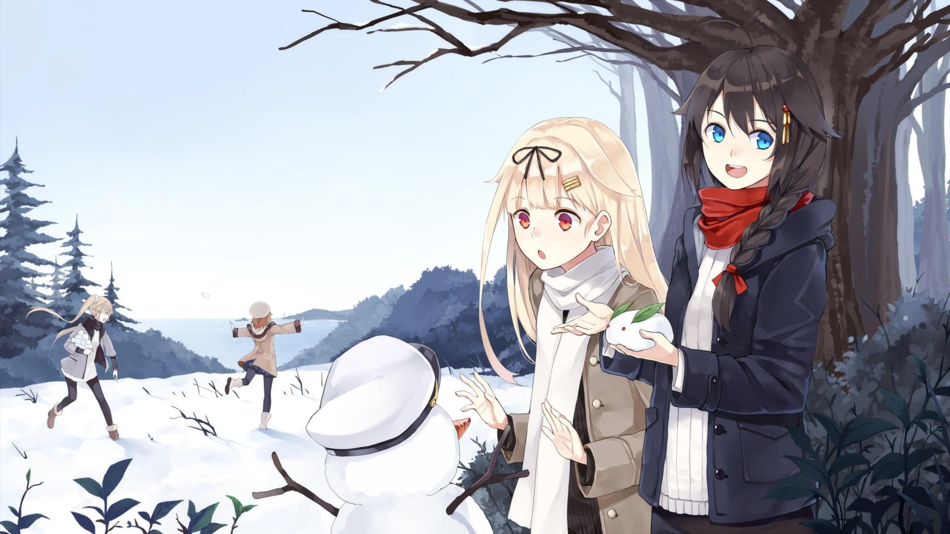 Hình anime đi chơi trong mùa đông