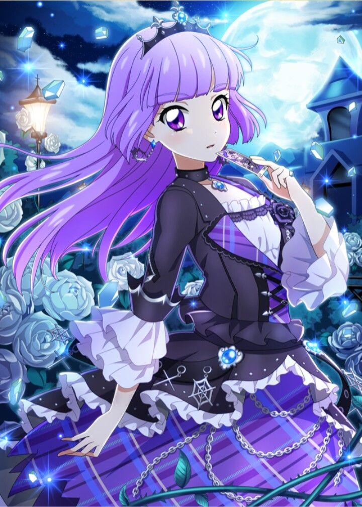 Hình anime girl tóc tím dễ thương