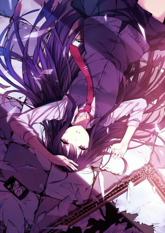 Hình anime girl tóc tím