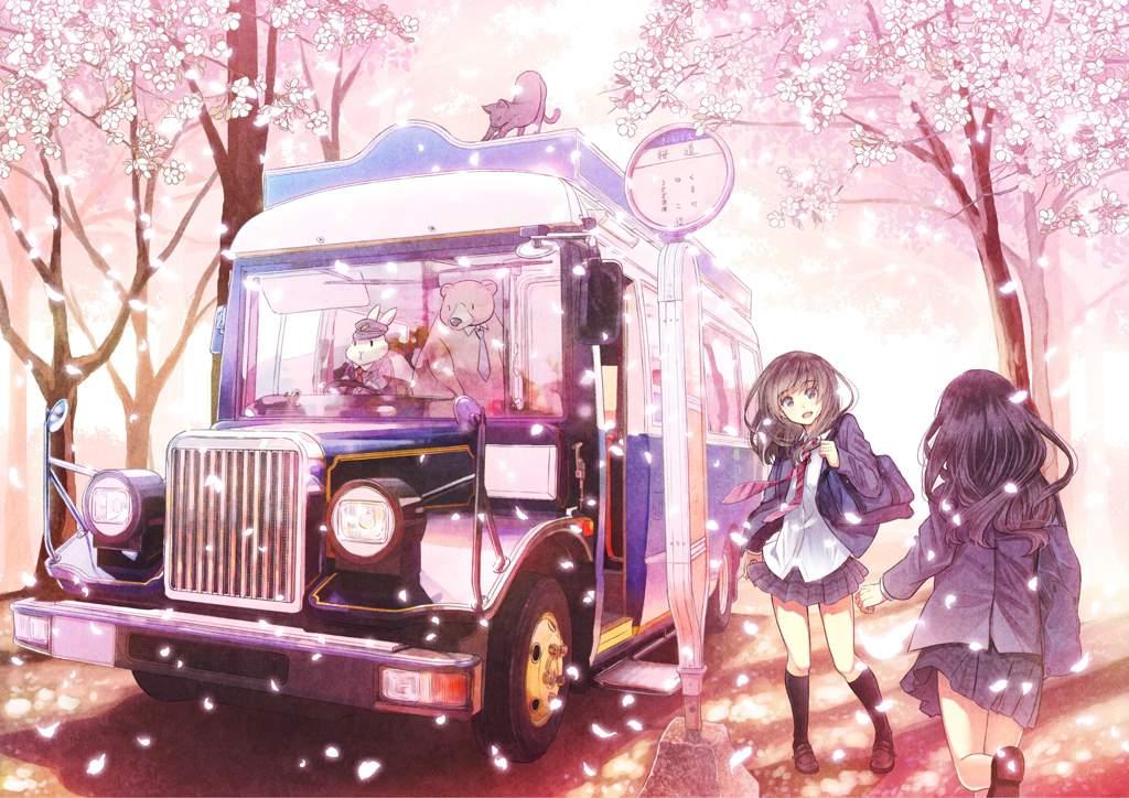 Hình anime hoa anh đào đẹp
