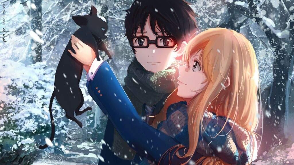Hình anime mùa đông dễ thương và đẹp nhất