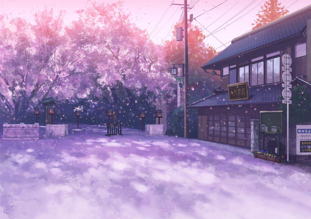 Hình nền hoa anh đào anime