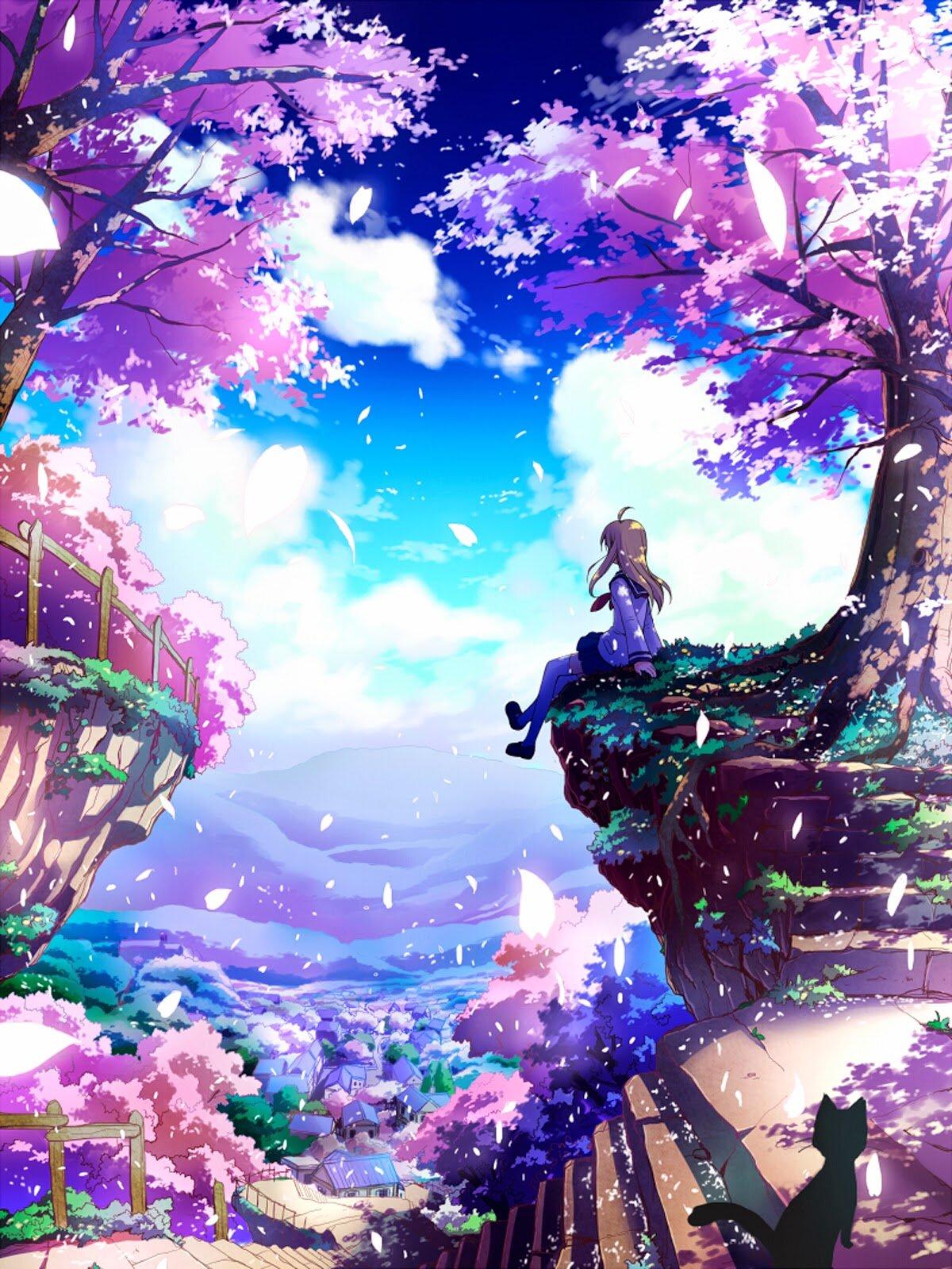 Hoa anh đào anime đẹp nhất