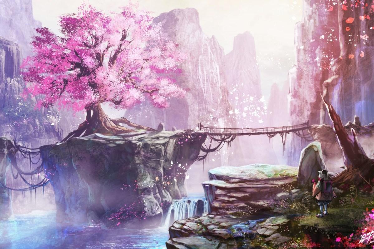 Khung cảnh hoa anh đào đẹp mê mẩn trong anime
