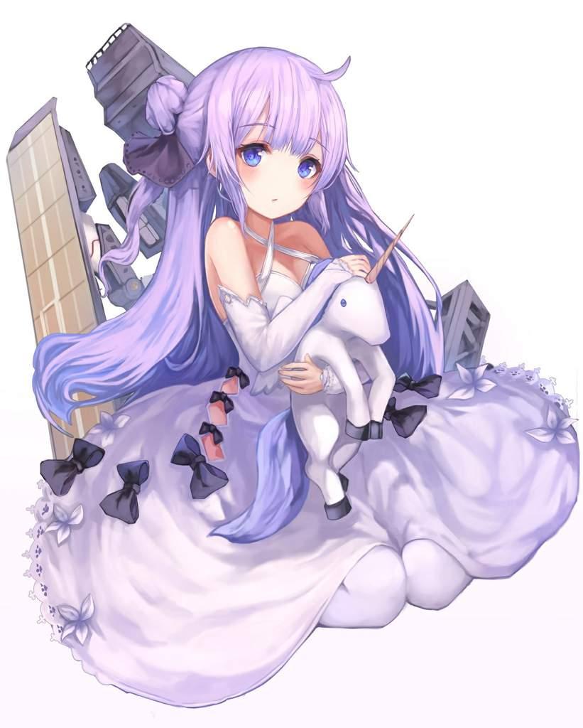 Nữ anime tóc tím dễ thương