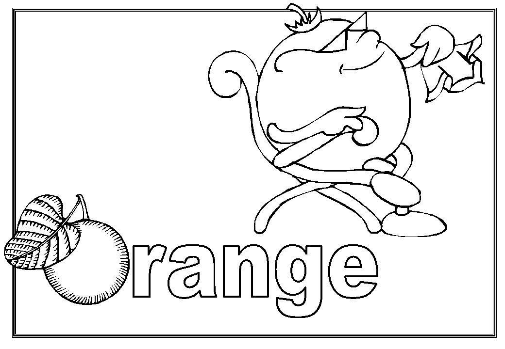 Orange cool coloring