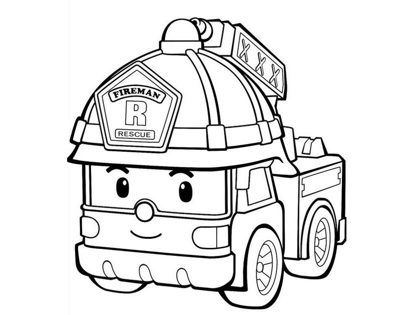 Tô màu xe cứu hỏa