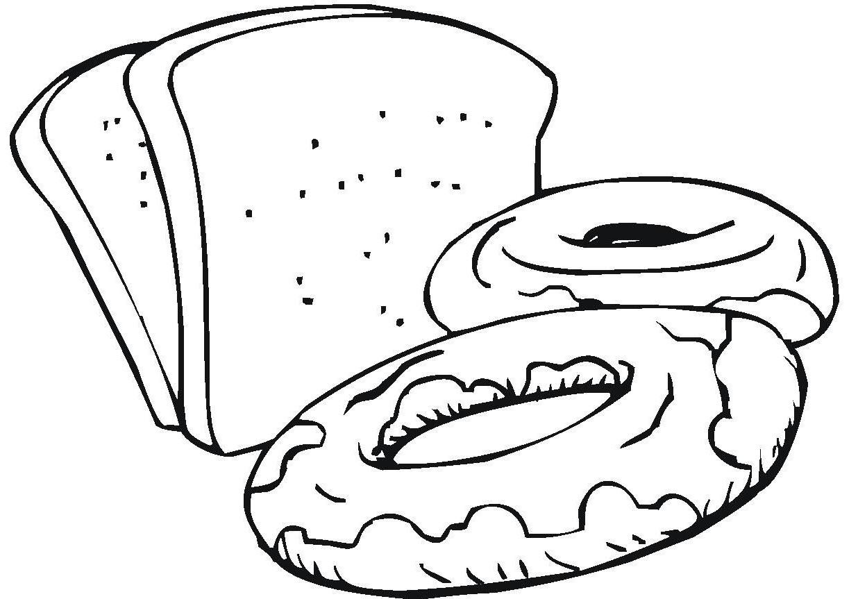 Tranh tô màu bánh đơn giản