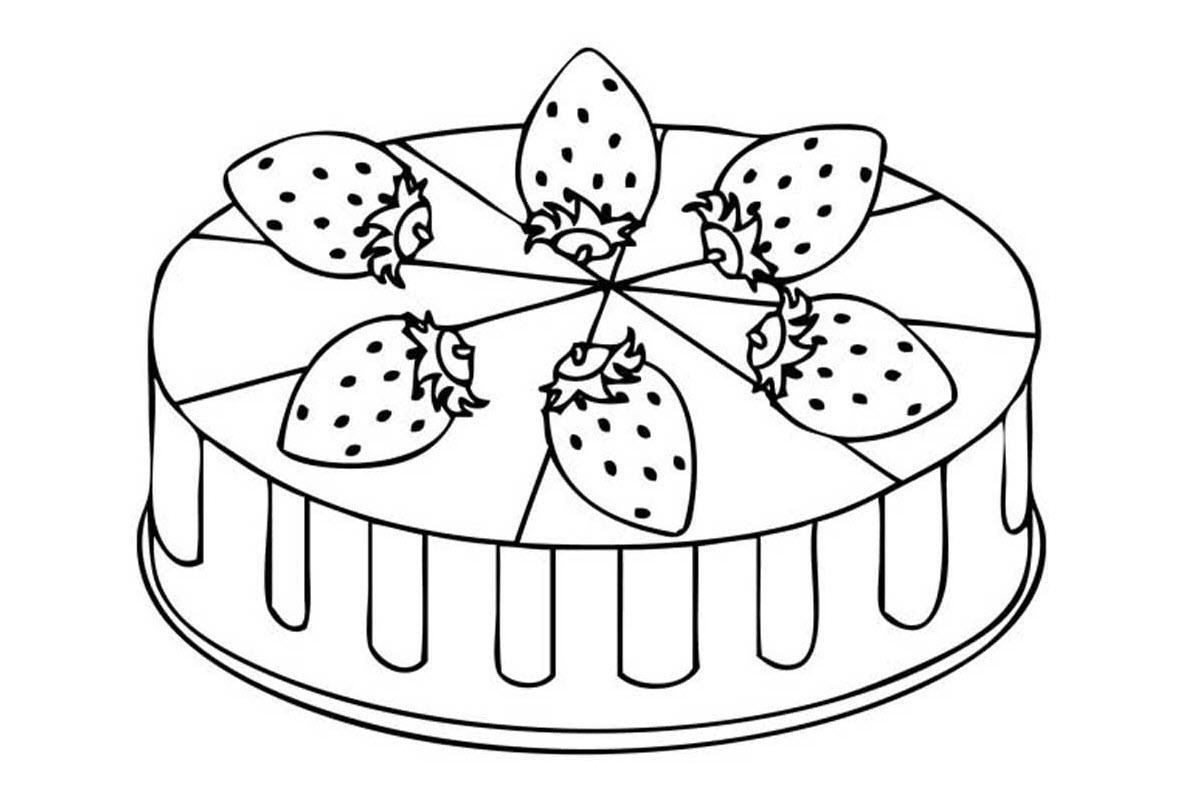Tranh tô màu bánh kem