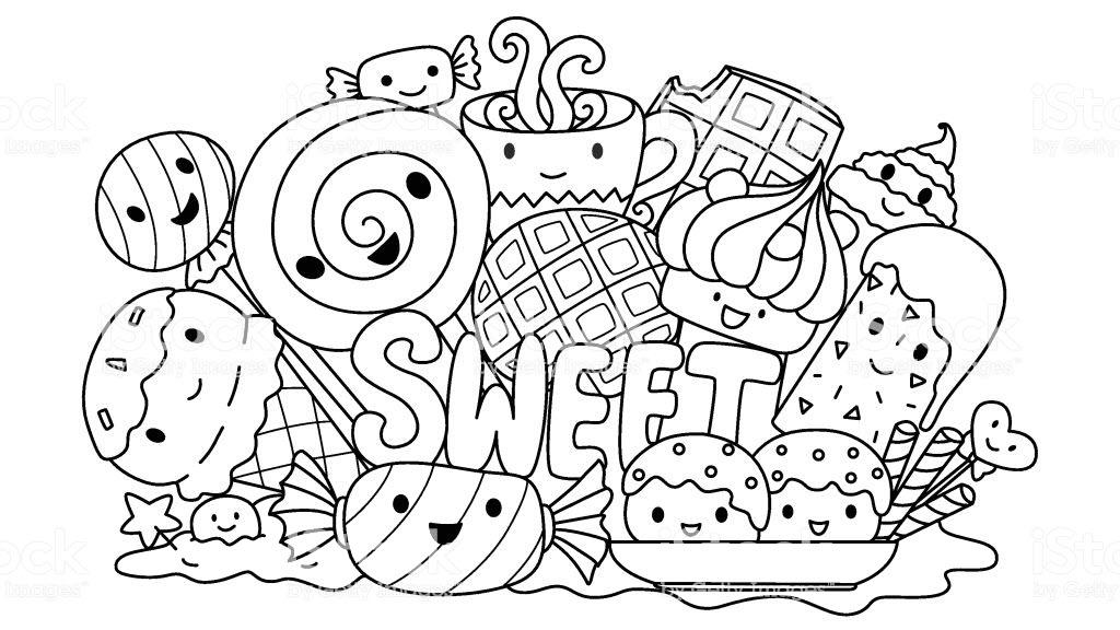 Tranh tô màu bánh kẹo đẹp nhất