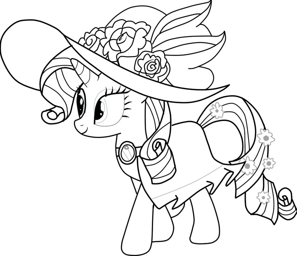 Tranh tô màu cô ngựa Pony kiêu kỳ