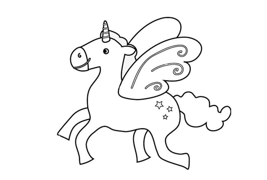 Tranh tô màu con ngựa đơn giản
