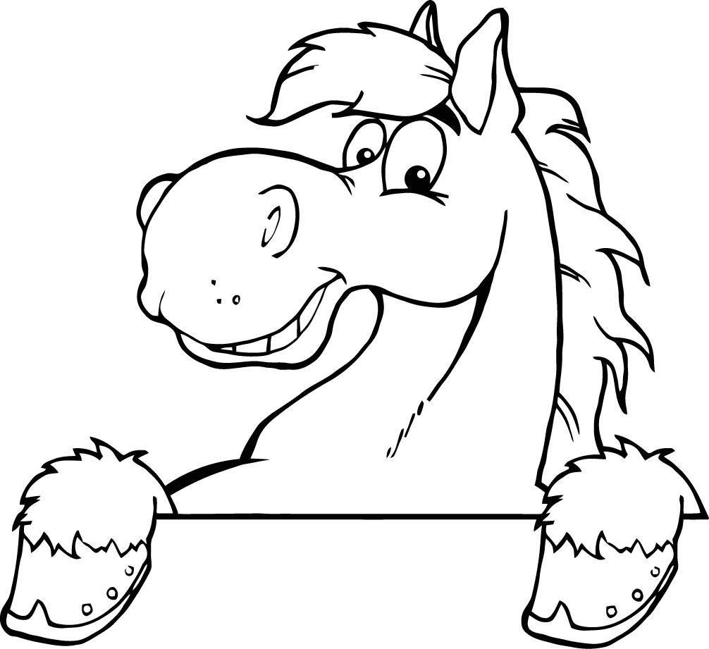 Tranh tô màu con ngựa ngộ nghĩnh