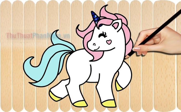 Tranh tô màu con ngựa
