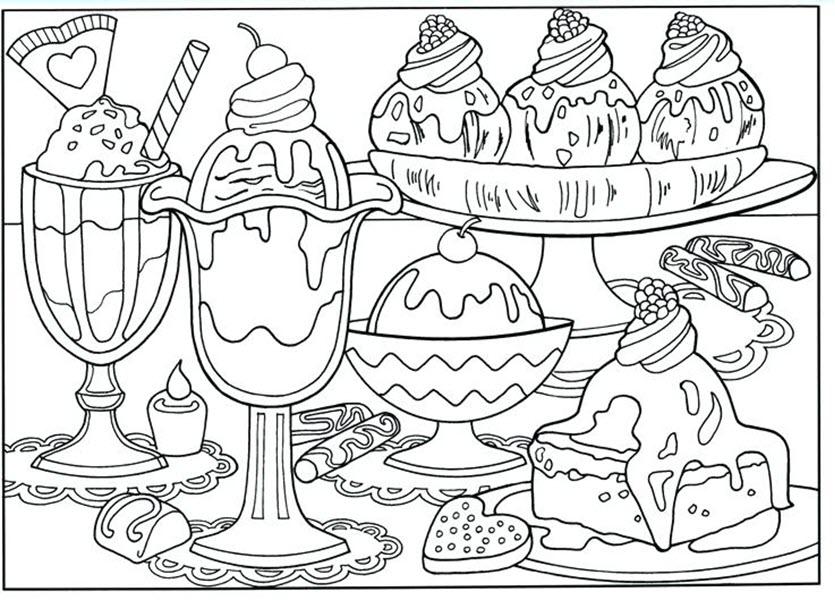 Tranh tô màu đồ ăn