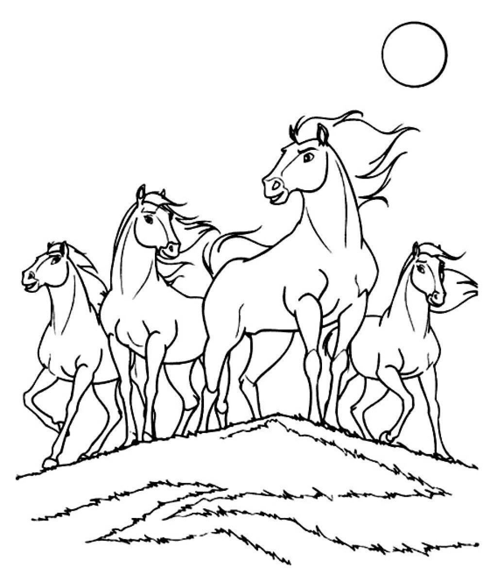 Tranh tô màu hình ngựa